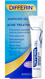 Differin Gel (adapalene 0.1%) for acne in adults