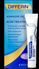 Differin Gel (adapalene 0.1%) for acne in adults