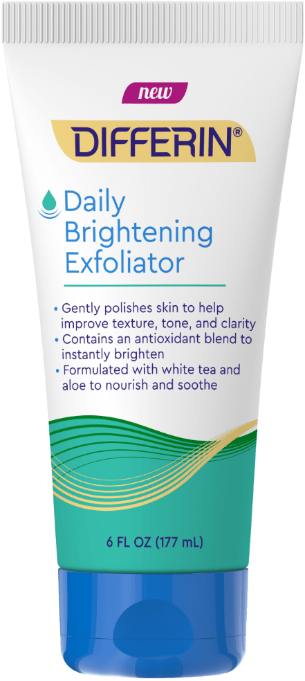 Differin Daily Brightening Exfoliator for Acne Treatment