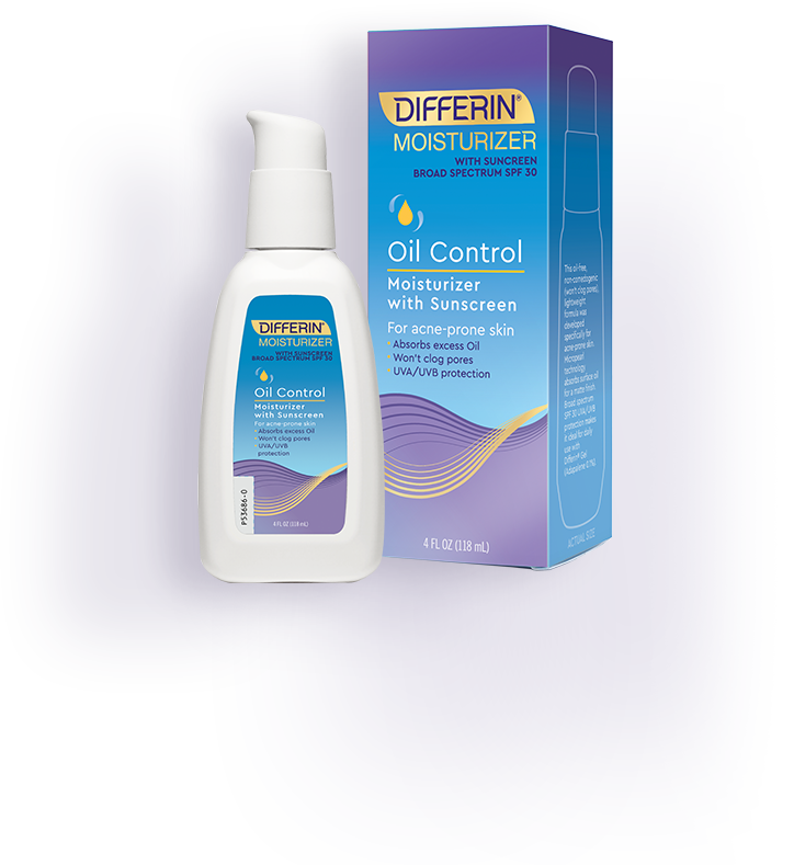 Differin Oil Control Moisturizer: provides daily sun protection, soothes skin from drying effects of some acne treatments.