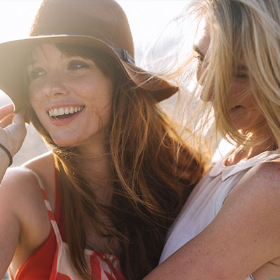 Women learning tips for healthy skin